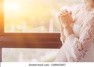 Imágenes, fotos de stock y vectores sobre Pregnancy Prayer