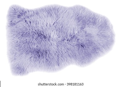 Soft fur carpet isolated on white background