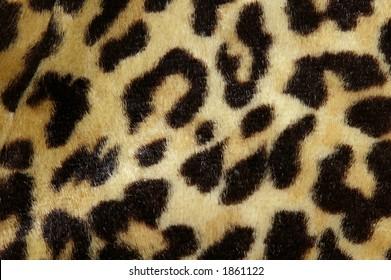 Soft fur leopard print