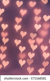 Soft heart bokeh background. Wallpaper, texture and design for Valentine;s Day.