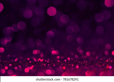 Soft image abstract bokeh ultra violet,purple,pink color with light background.Ultra violet night light  elegance,smooth sparkling glittering backdrop or artwork design for roman and celebration.