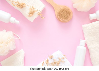 A Pink Color In The Bathroom Images Stock Photos Vectors