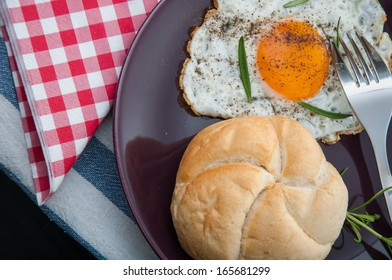 Soft light theme of breakfast with egg