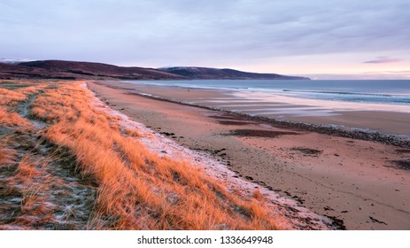 Soft morning light on Brora beach