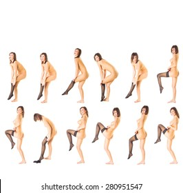 Soft Nudity Isolated Group
