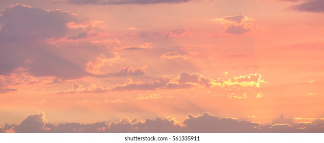 Soft, pastel cloudscape featuring low contrast and substantial copy space