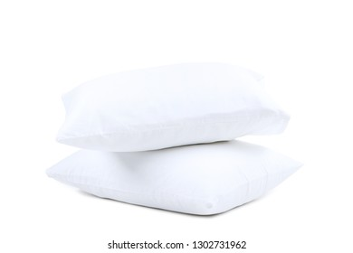 Soft pillows isolated on white background