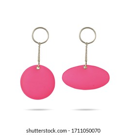 Soft plastic keychain. Pink ovalsoft sponge keychain for customization. Promotion product for keychain design.