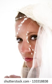 Soft portrait of a beautiful young bride.