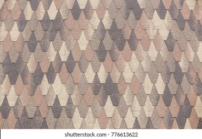 Soft roofing tiles. Close-up. Background