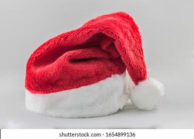 a soft santa claus hat