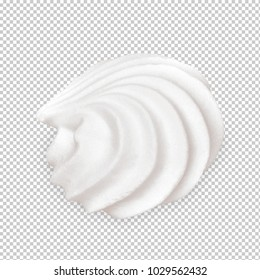 Soft serve ice cream, frozen custard or whipped cream isolated on white background including clipping path