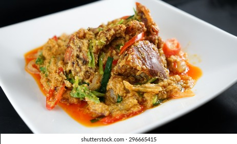 Soft Shell Crab with Red Curry