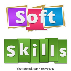 Soft Skills Colorful Squares Stripes