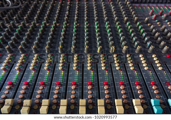 Soft Sound Mixer Control Audio Mixing Stock Photo (Edit Now