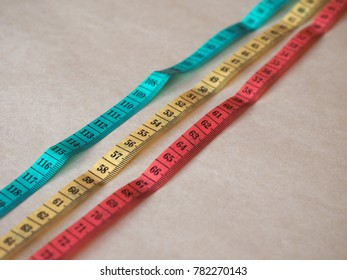 soft tailor meter ruler in metric units