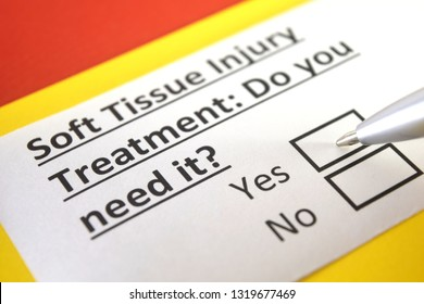 soft tissue injury treatment: do you need it? yes or no