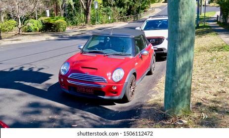Soft Top Morris Car, parked Glenbrook, New South Wales,   Australia on 14 September 2019
