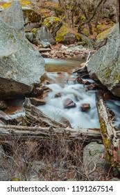 Soft water photos along Tenaya Creek on the Mirror Lake Trail at Yosemite National Park
