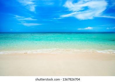 soft wave on sandy beach.