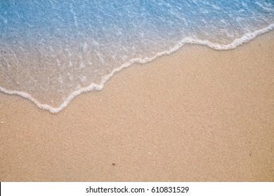 Soft wave on sandy beach. Background.Summer background concept.