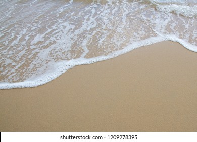 Soft wave of sea on the sand beach