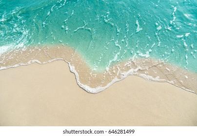 Soft waves on the beach