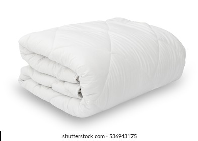 Soft white blanket isolated on a white background