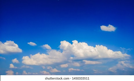 Soft white cloud and blue sky background