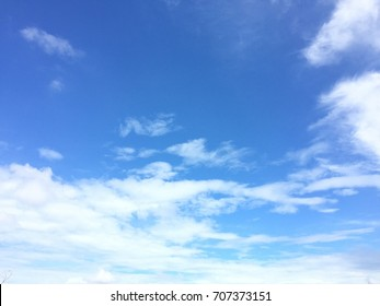 Soft white clound and blue sky background