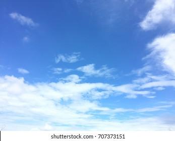 Soft white clound and blue sky background