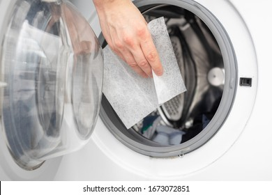 soft your laundry by droping dryer sheets into your dryer or washing mashine by hand, so it will smell fresh