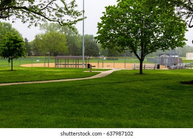 the softball diamond awaits better weather and lots of games