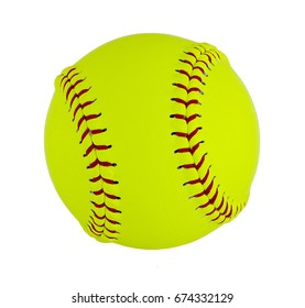 Softball isolated on white background. Clipping path included 2