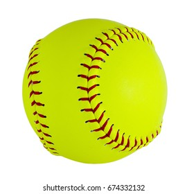 Softball  isolated on white background. Clipping path included 3