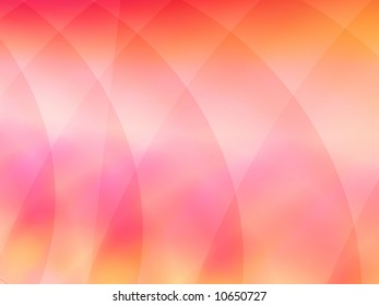 A softly colored fractal background in shades of rose and peach.