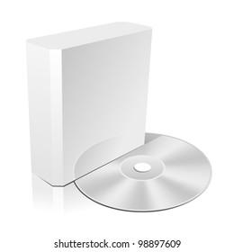 Software CD Box. Blank Design Template for Branding. Rasterized Version