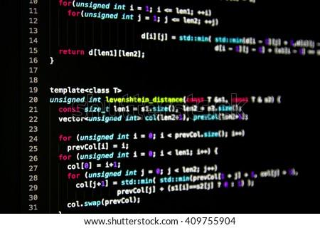 Software Developer Programming Code Abstract Computer Stock