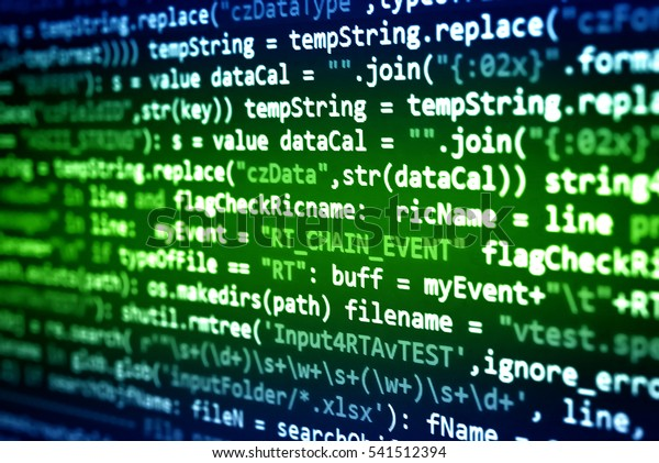 Software Developer Programming Code Abstract Computer Technology Stock Image 541512394