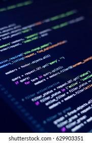 Software development, source code, Python Language.. Programming code. Writing code. Editor Code. Vertical Image.