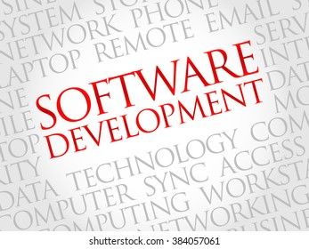 Software development word cloud concept