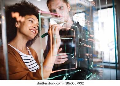 Ingénieurs en logiciels travaillant sur des projets et des programmes dans l'entreprise