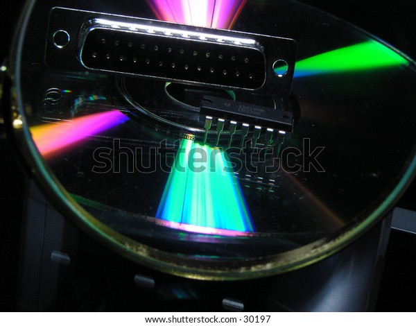 software and hardware under magnifying glass