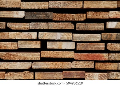 Softwood Texture: Detail of Sawn Wooden Slats