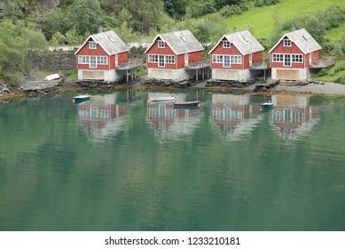 Sogn og Fjordane. Aurlandsfjord. Flam. Norway.