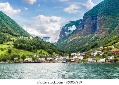 Sognefjord in Norway. Country landscape in a summer day