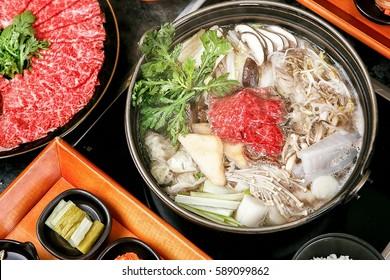 sogogi shabu shabu is Korean style beef shabu shabu