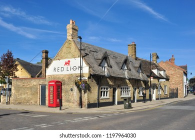 SOHAM, CAMBRIDGESHIRE/UK - September 29, 2018. The Red Lion Public House, High Street, Soham, Cambridgeshire, England