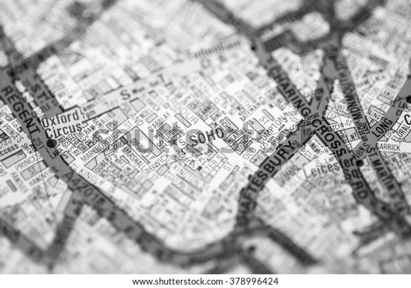 Map Soho London.Soho London Uk Map Stock Photo Edit Now 378996424