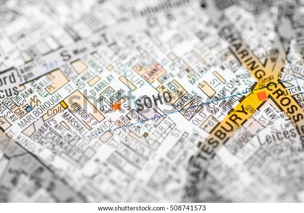 Map Soho London.Soho London Uk Map Stock Photo Edit Now 508741573